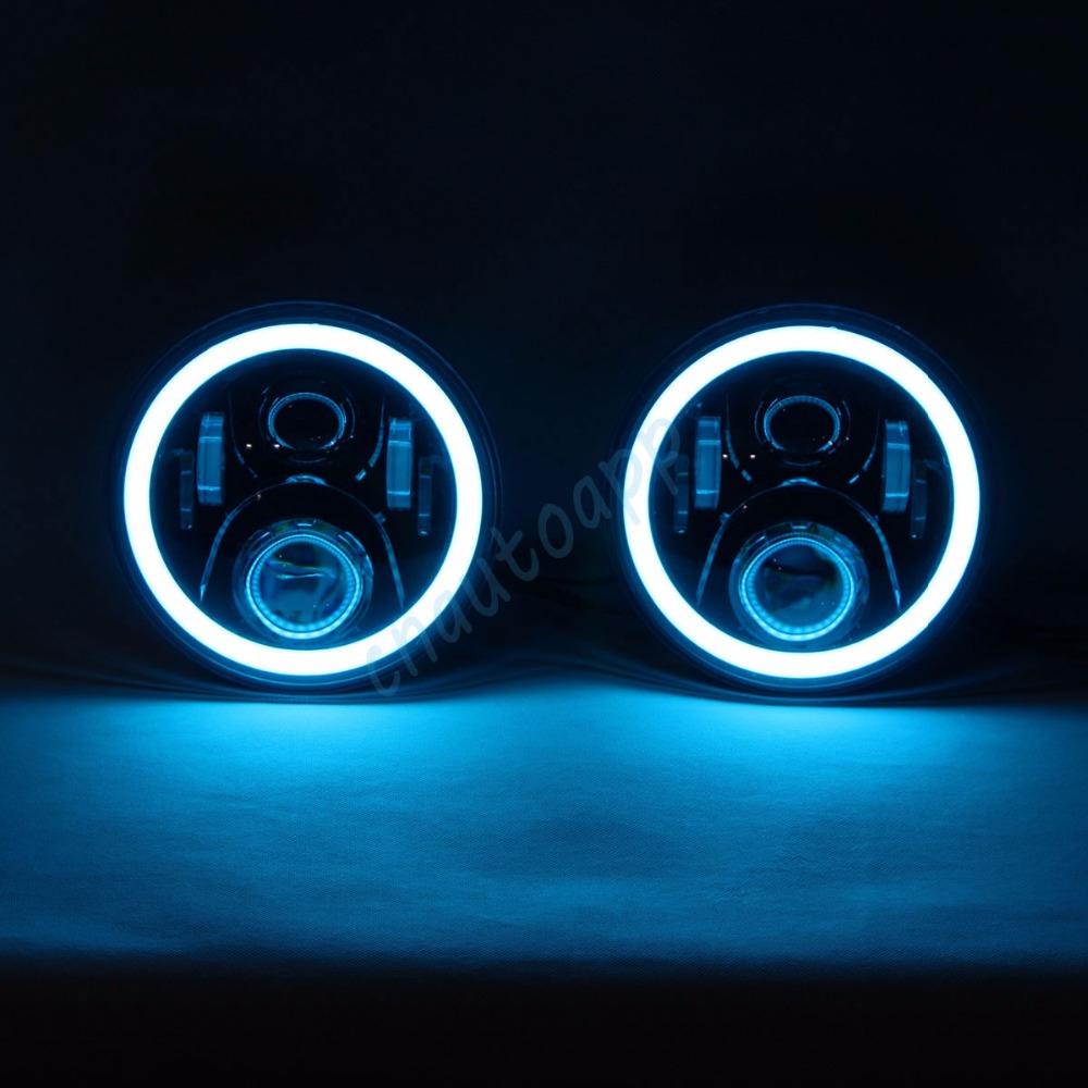 Jeep Wrangler led headlight RGB angel eye bluetooth 2