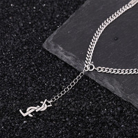925 sterling silver net red necklace female clavicle chain fashion Japan and South Korea personality retro whip chain simple