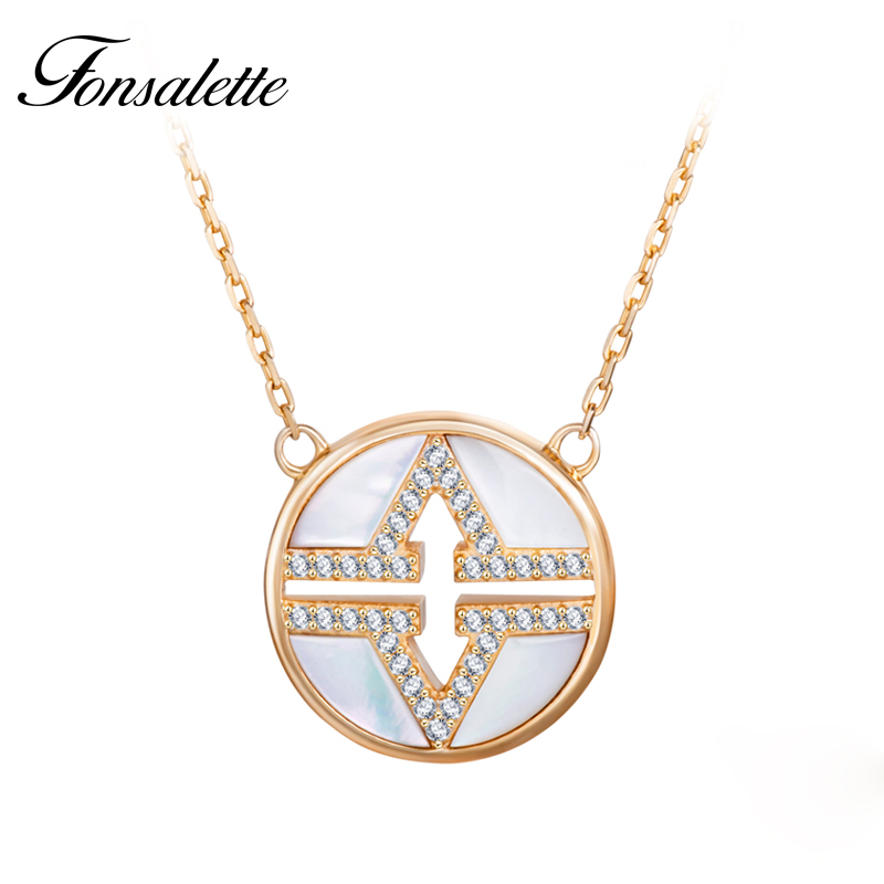 Personality Double V Letter Shape Black Agate Round Circle White Shell CZ Necklaces Bijoux Necklace Women Jewelry ZK40 chic feather letter round shape noctilucent pendant necklace for women
