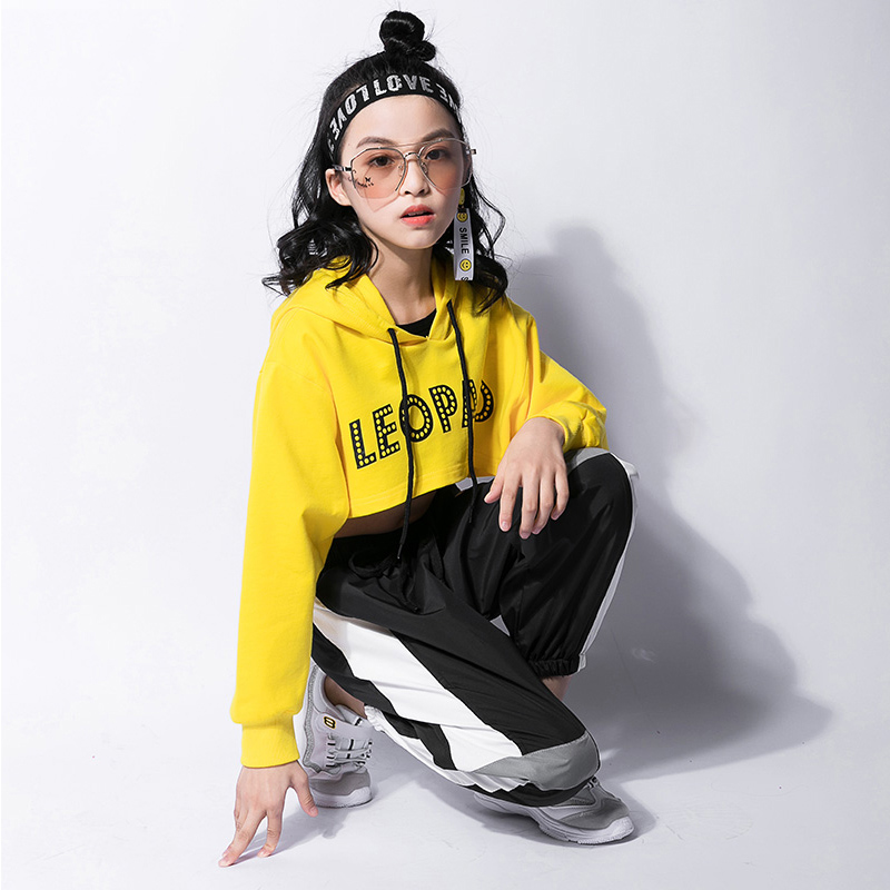 Kids Tops Vest Pants 3 Pieces Hip Hop Clothing Outfits Jazz Dance Costume Girls Ballroom Dancing Stage Wear Suit Clothing DWY987 6