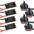 4 Pcs Emax rs2205/emax 2205 2300kv Cooling Motor+4 Pcs LittleBee 20A S ESC BLHeli_S for QAV250 Fpv Mini Racing FPV Quadcopter