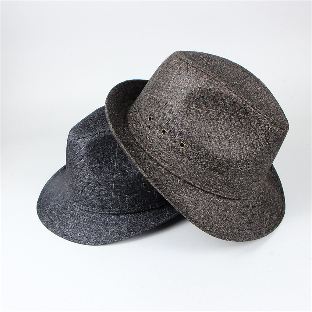 Men Top Hat 2019 Spring And Summer Jazz Hat Outdoor Linen Sun Hat Panama Hat