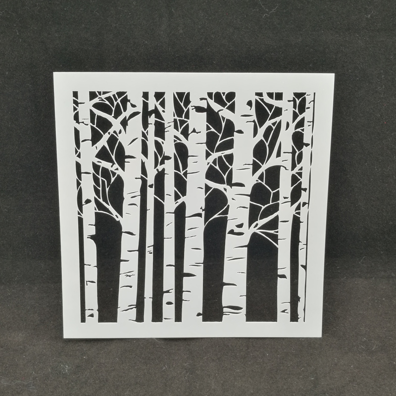 Forest Tree Layering Stencils Drawing Color Spraying Stencil For Diy Scrapbook/photo Album Coloring,painting Stencil,home Decor