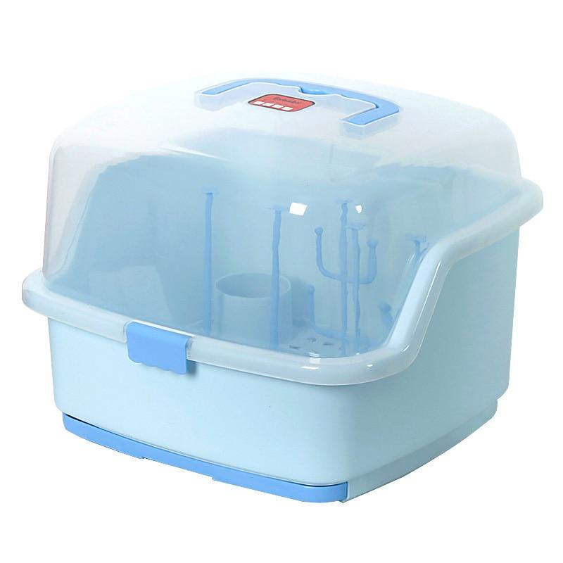 PP + ABS plastique sans odeur couverture claire bouteilles de bébé stand à clapet bébé bouteille séchage rack magasin séchage rack couverts boîtes