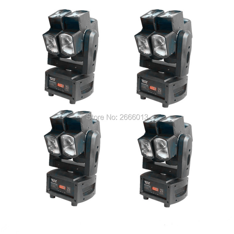 4pcs/lot Free shipping 8x12W infinite rotating beam led moving head light for Disco DJ Nightclub DMX LED Beam Stage effect light