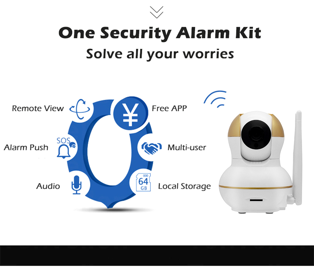 Wistino Alarm Systems Security WIFI IP Camera Security System Video Monitor Surveillance Camera Wireless Home Alarm System With Sensor Alarm Wifi kit Smart Home Camera (4)