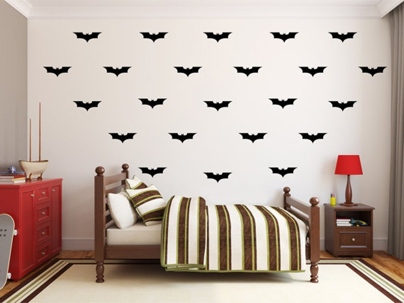 US $8.99 |24pcs/set Batman DIY Wall Decal Wall art Batman Decorations Vinyl  Decal, Childrens Kids Bedroom Decor Wall Stickers-in Wall Stickers from ...