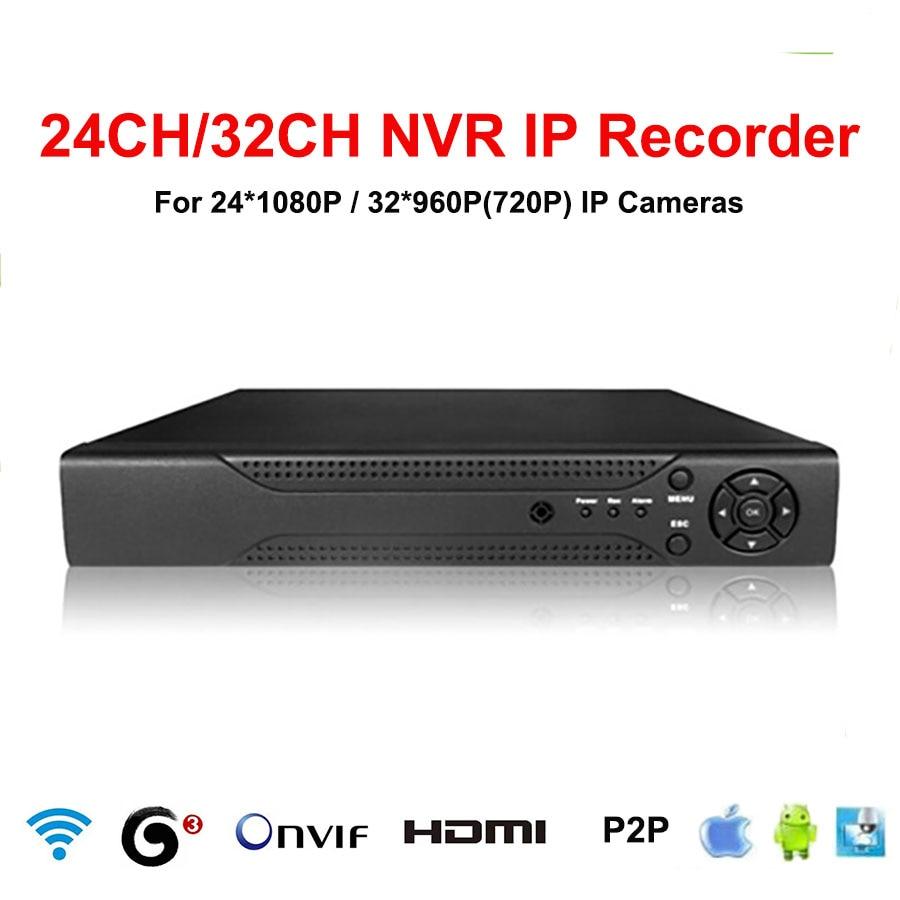 JIVISION 32CH NVR CCTV 24CH 1080 p 32CH 960 p 720 p NVR 32ch HDMI ONVIF P2p couverture réseau 32 Canaux Réseau vidéo enregistreur