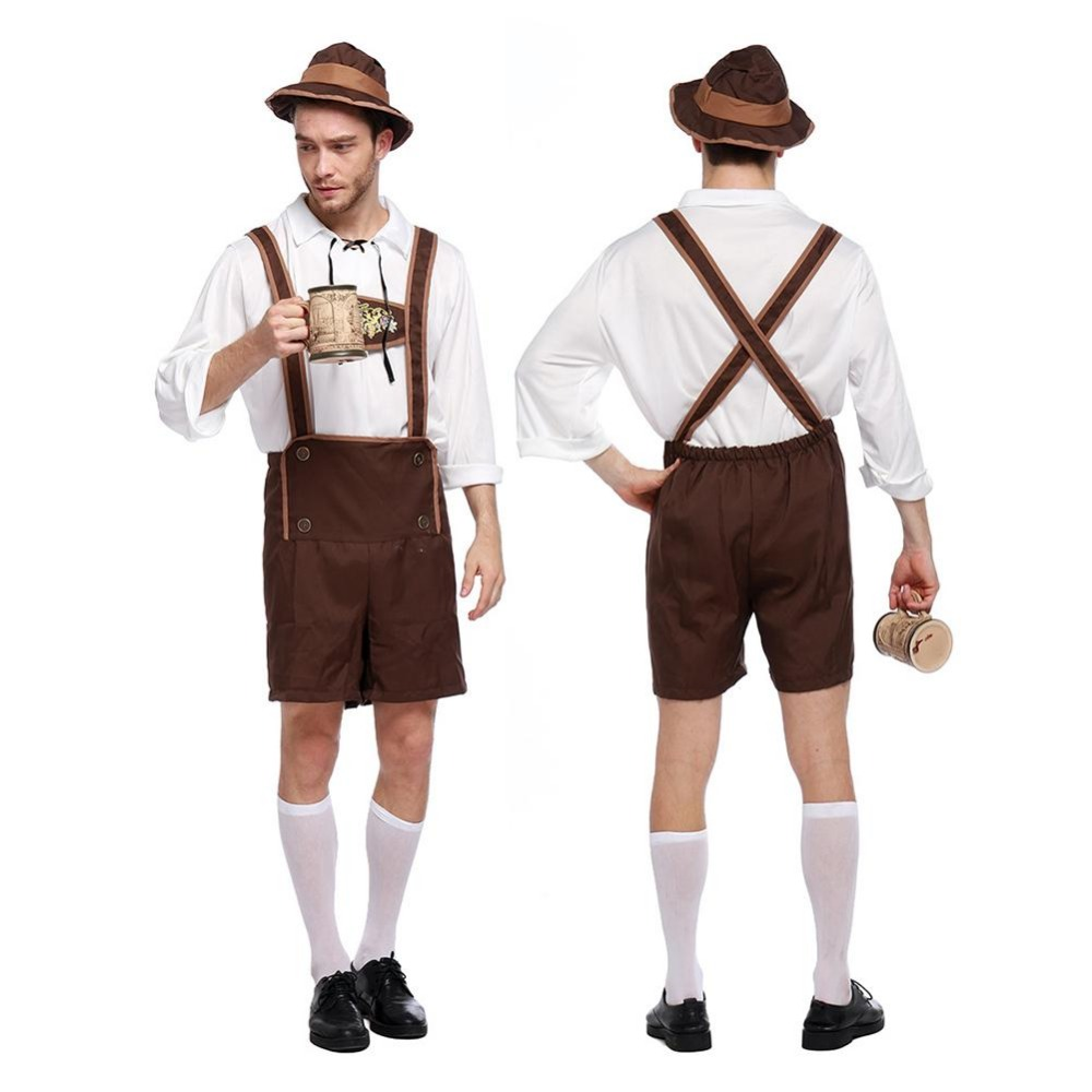 Beautiful Kids Performing Costume Boys Embroidery Jumpsuit Girl Dresses Sibling Child Stage Costume German Beer Festival National Clothing Home