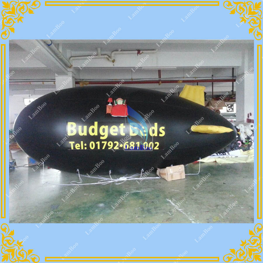 Free Shiping 6m/20ft Long Black Inflatable Blimp with your LOGO, Inflatable Advertising Airship with Digital Printing LogoFree Shiping 6m/20ft Long Black Inflatable Blimp with your LOGO, Inflatable Advertising Airship with Digital Printing Logo
