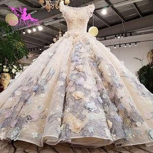 Image 4 - Aijingyuチューブウェディングドレスインドのブライダルなfrocks岬ロング婚約ドレス丈古典的なウェディングドレス