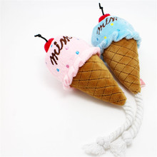 Pet Plush Toy Squeaky Plush Sound Ice Cream Toys