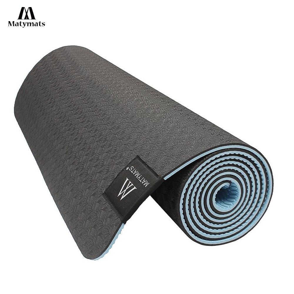 Matyamts 183 cm * 61 cm Tapis De Yoga 6mm TPE Non-slip Mat pour Remise En Forme De Yoga 6 Couleur des Exercices de gymnastique Tapis De Sport Pad Esterilla Yoga