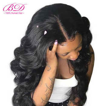 360 Lace Frontal Wig Pre Plucked With Baby Hair Peruvian Remy Hair Body Wave Human Hair Wigs For Black Women BD