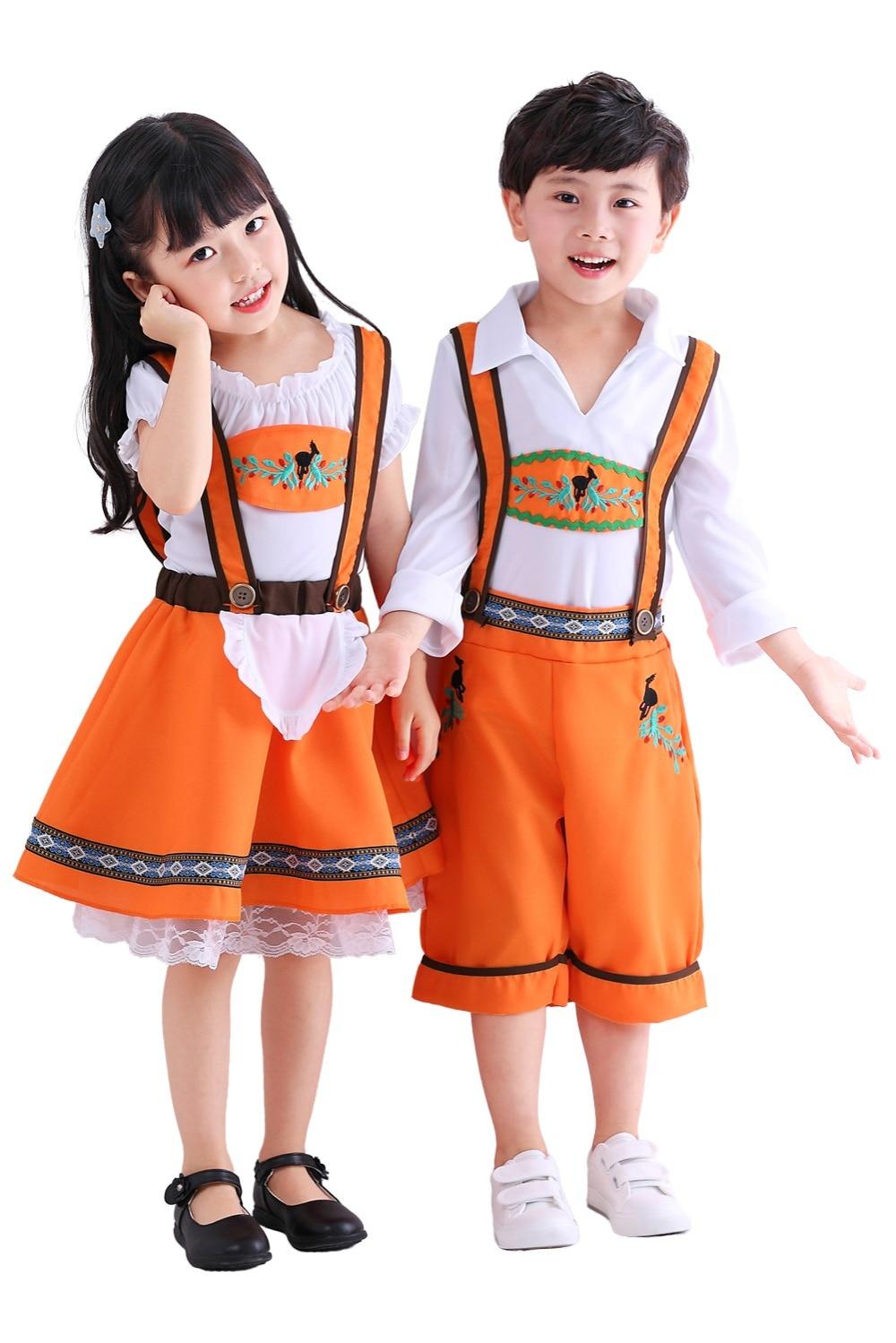 Oktoberfest Cosplay Costume Beer Festival Girls Orange Yellow Beer Skirt
