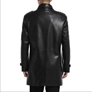 Image 4 - ชายเสื้อหนัง Faux PU Sheepskin ชาย Outwear แจ็คเก็ตฤดูใบไม้ร่วงเสื้อลำลองแฟชั่นชายยาว Man ปลอมแจ็คเก็ตหนัง A2552