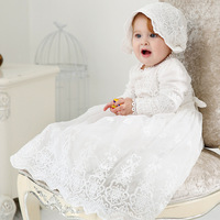 vintage Baby Girl Dress Baptism Dresses for Girls 1st year birthday party wedding Christening baby infant clothing bebes HW2320