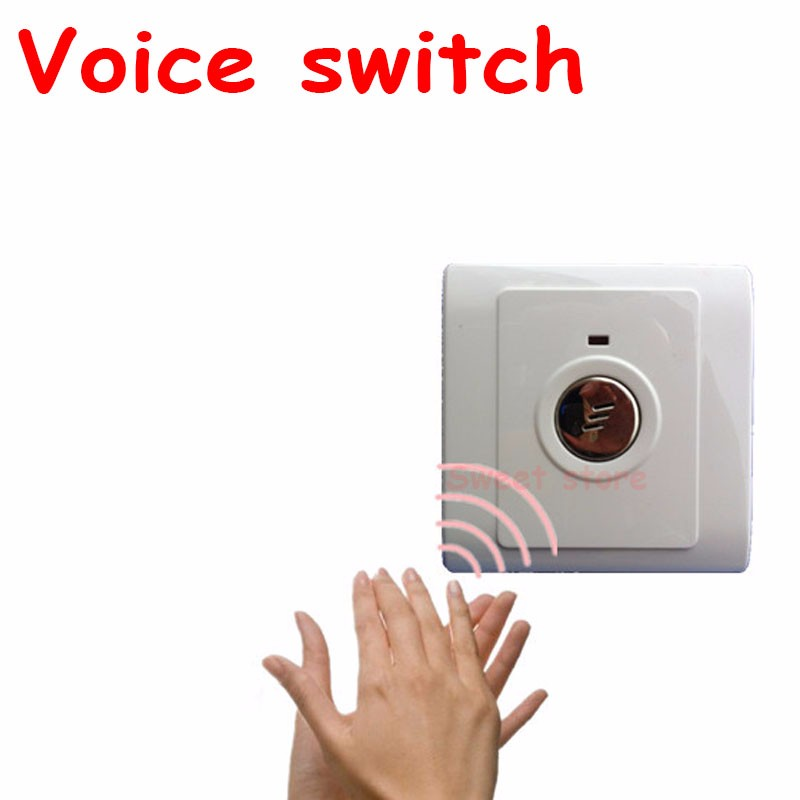 Voice switch lamp corridor delay sensor energy saving lamp 86 led sound and light control switch intelligent switch panel 1pc (2)