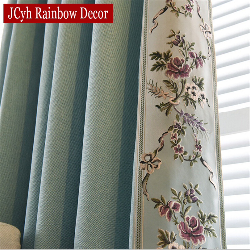 Broderte Blackout Gardiner For Stue Soveværelse Chinese Curtains Fabric Drapes Cloth Blinds Luxury Gardiner For Window