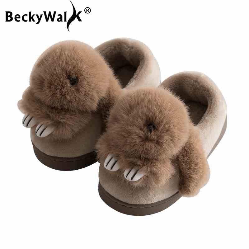 Beckywalk Mädchen Cartoon Bär Winter Kinder Hausschuhe Kinder Home Baby Schuhe Innen Plüsch Hausschuhe Kleinkind Jungen Baumwolle Schuhe Csh702