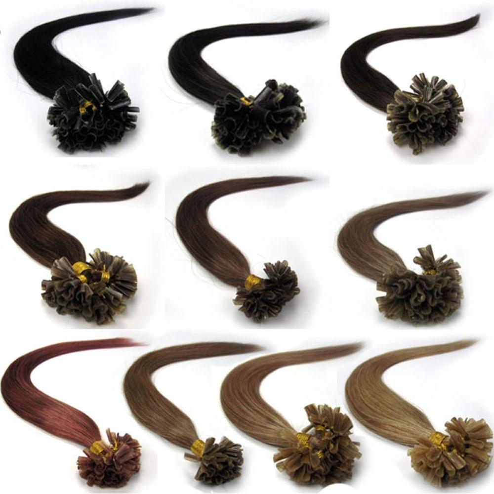 ZZHAIR 16 24 100% Machine Made Remy Human Hair Extensions Capsule Keratin Nail U Tip Hair Fusion 40g 50g 60g 70g 100S/Pack