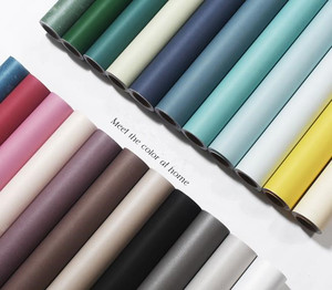 Image 1 - Papel tapiz no tejido de alta calidad, color sólido simple, blanco y negro, gris, cálido, para dormitorio, dormitorio, sala de estar, Fondo de TV papel tapiz