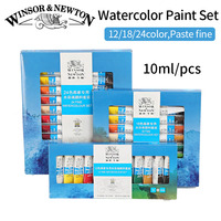 Winsor Newton 12 18 24Colors Watercolor Paint High Quality Transparent Watercolor Pigment For Artist School Student