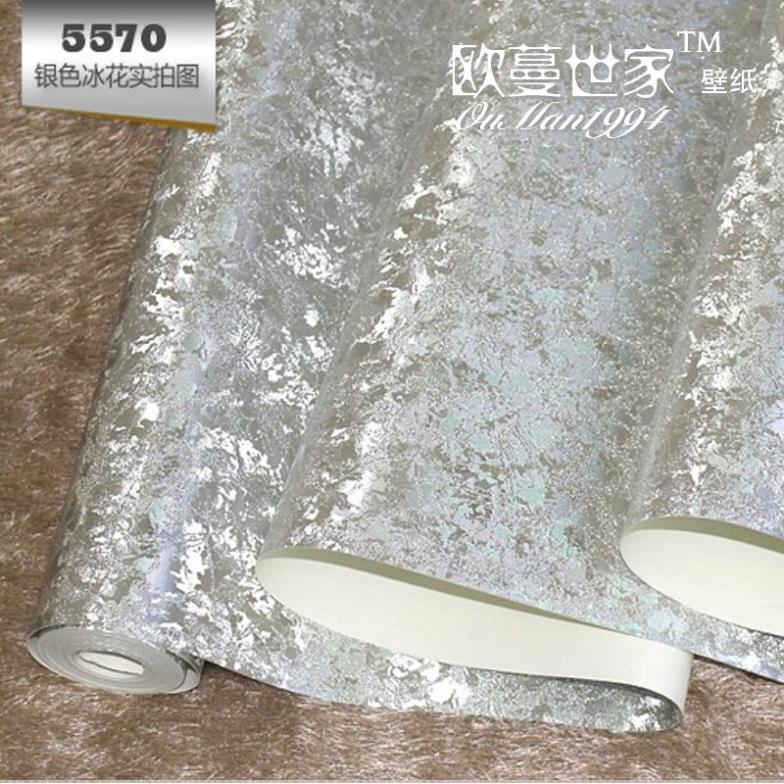 Free Shipping Gold Foil Silver Wallpaper And Color Ice Patterned Wall Paper Ceiling Background Wallpapers In From Home