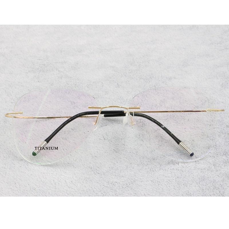 Image 4 - BCLEAR Titanium Rimless Fashion Designer Eyeglasses Optical Glasses Frame Men and Women Eyewear Lightweight Flexible SpectacleMens Eyewear Frames   -