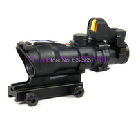 Tactical Hunting Shooting Trijicon ACOG 4x32 Red Optical Fiber Red Dot Rifle Scope Free Shipping