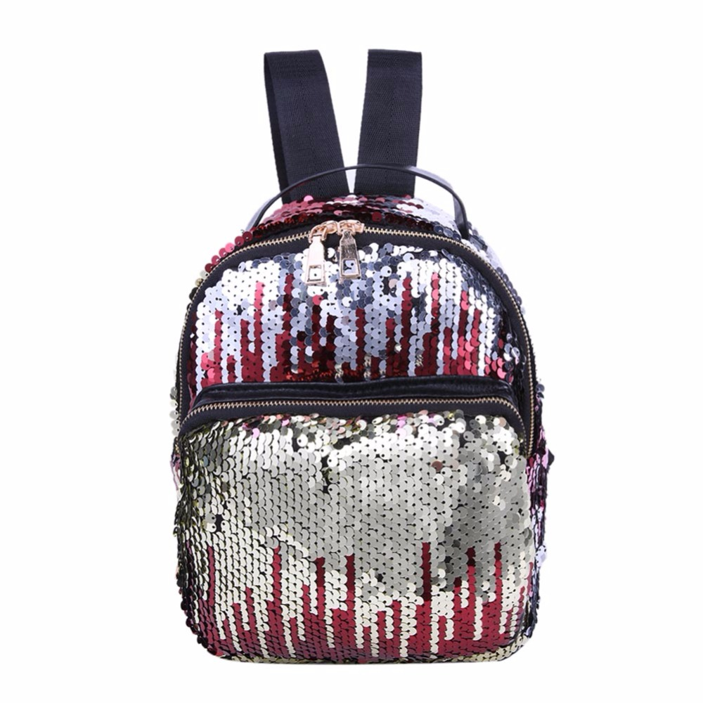 PU Leather Sequins Backpack