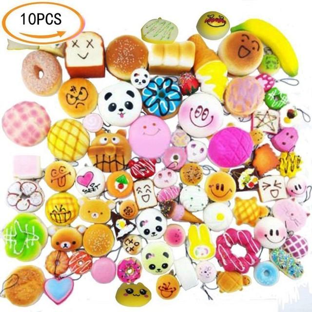 small cute bread random squishy soft panda/bread/cake/buns