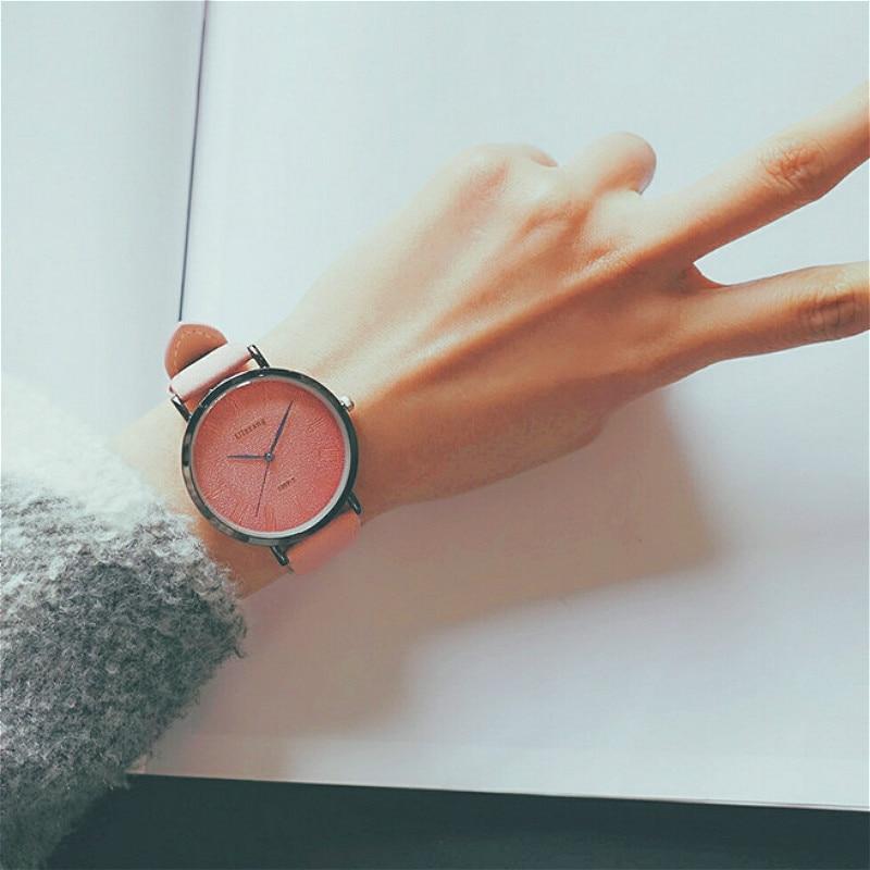 Ulzzang Women Dress Watches Luxury Lovers Couple Watches Simple Waterproof Ladies Men Leather Quartz Watch Clock Montre Homme