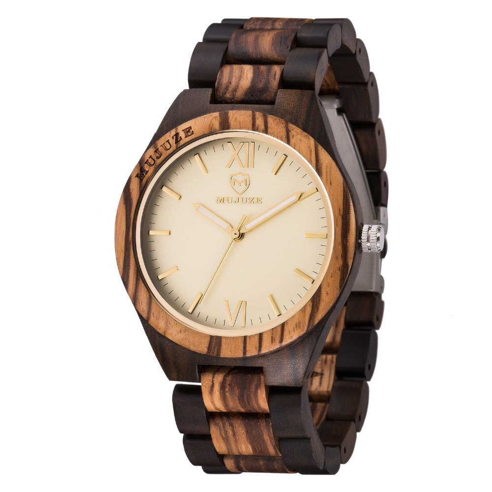 Luxury Zebra Wooden Watch Men Handmade Gifts Nature Full Wood Quartz Bamboo Wrist Watches Clocks Male Hours relogio de madeira luxury top brand full wooden watches handmade nature wood hollow wrist watch women men fold clasp creative casual bamboo gifts