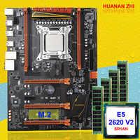 Große marke neue ankunft HUANAN ZHI Deluxe X79 gaming motherboard set CPU Xeon E5 2620 V2 SR1AN RAM 32G (4*8G) DDR3 1600MHz REG ECC
