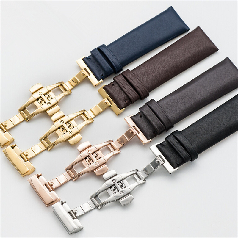 High quality Men Women Genuine Leather Watch Strap for Armani 20/22mm Genuine leather Watch Band Black/Deep Brown/Blue+ Tools цены