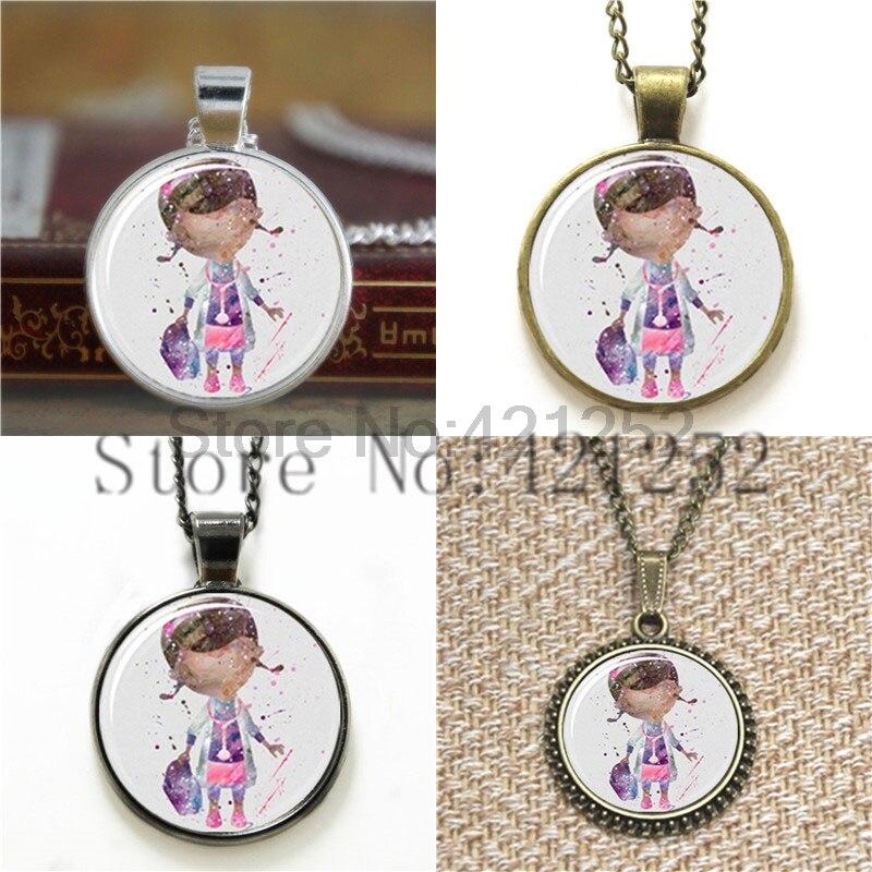 Doc McStuffins Art cartoon Necklace keyring bookmark cufflink earring