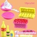 Girls toys играть дома 1:6 мини Моделирование посуда куклы Кухня кастрюли и сковородки блюда очки столовые приборы для barbie doll