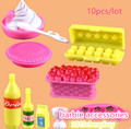 girls toys play house 1:6 mini Simulation tableware dolls Kitchen pots and pans dishes glasses cutlery for barbie doll