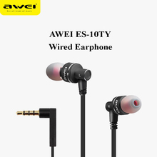Awei ES-10TY Universal Hi-fi Metal Heavy Bass Wired Earphone Earbuds with Mic