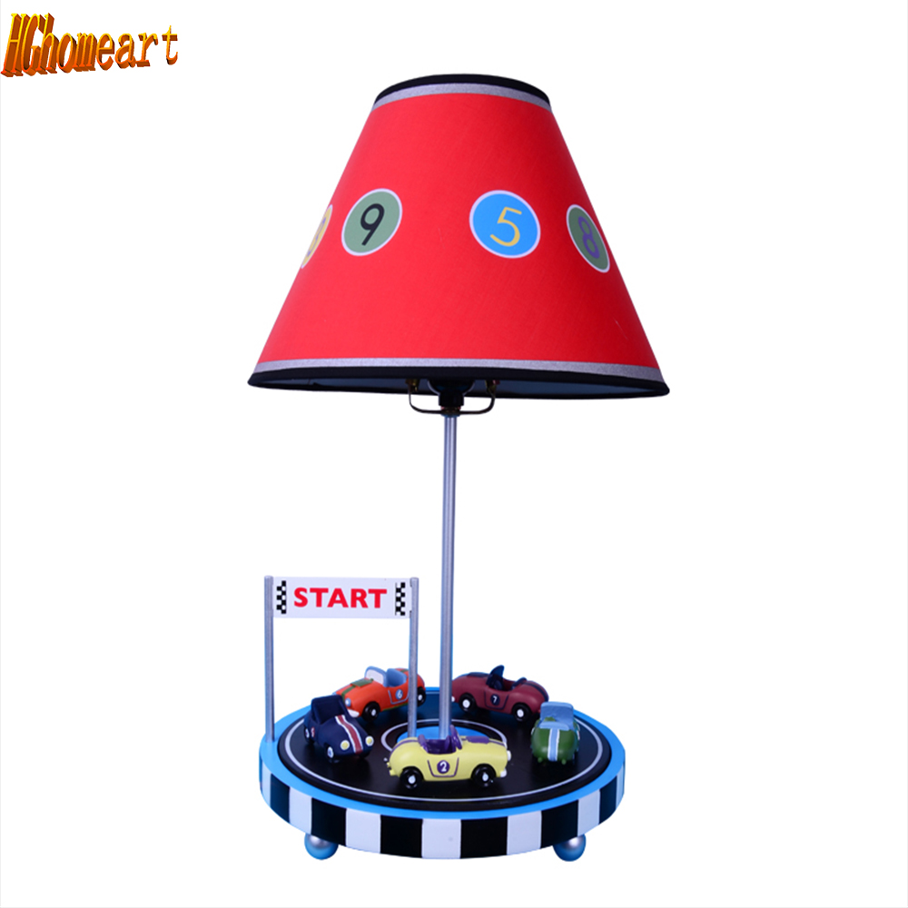 HGhomeart Children Room Led Desk Lamps E27 Bulb 110V-220V Resin Reading Bed Light Bedroom Light Romantic Cartoon Table Lamp hghomeart kids room modern cartoon table lamp children s table lamp 110v 220v reading light switch button learning lamp