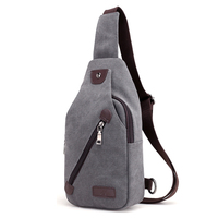 New Multi Function Men Canvas Small Chest Packs Vintage Shoulder Bags Unisex Adjusted Strap Length And