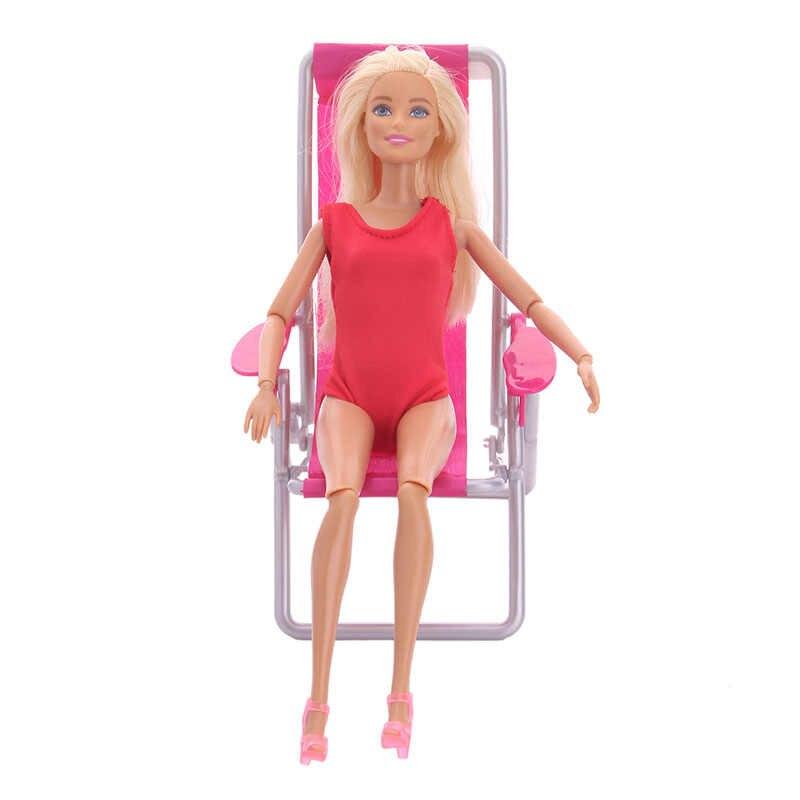 ZWSISU muñeca motocicleta coche silla escritorio playa paraguas equipaje armario muebles accesorios de fiesta para Barbie generación niña juguete