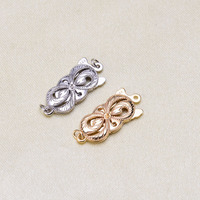1Pcs G14K Gold Clasps&Hook Flower Heart Multi Pattern Hollow Out Clasps Jewelry Findings For Jewelry Making