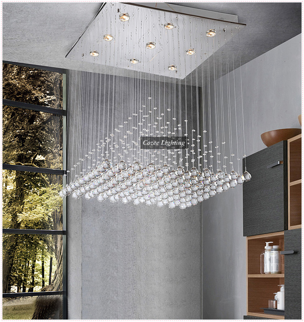 Aliexpress Buy Free Shipping Modern Foyer Chandelier Crystal – Contemporary Foyer Chandelier