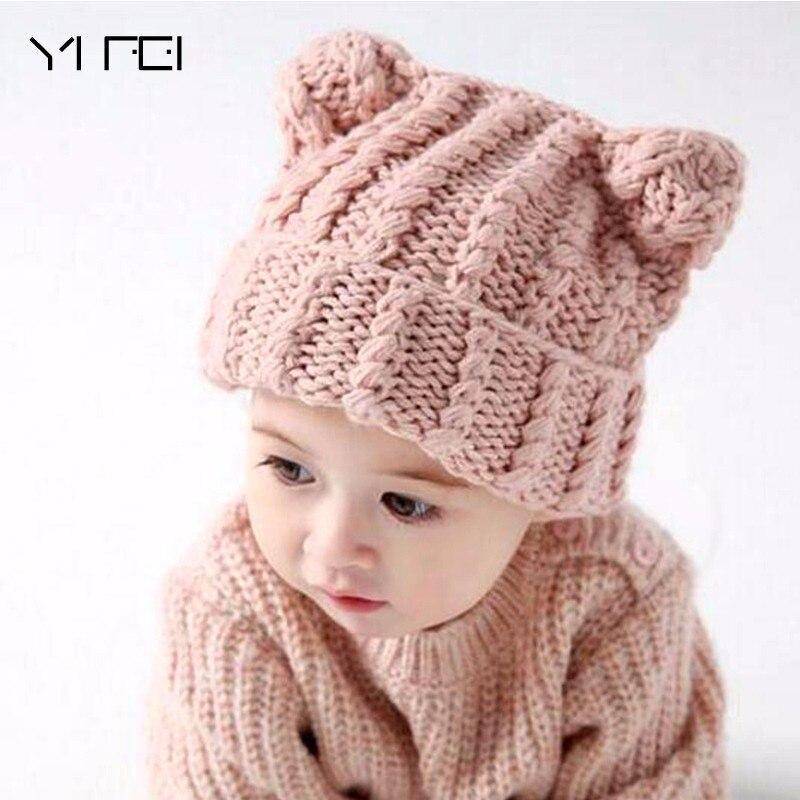 Coif 3D Animal Hat With Ear Knitted Caps Mickey Ears Headwear Winter Boy Girl Hats  Kid Gifts Outdoors Keep Warm Earmuffs Hats t703 mickey d vjcrdt