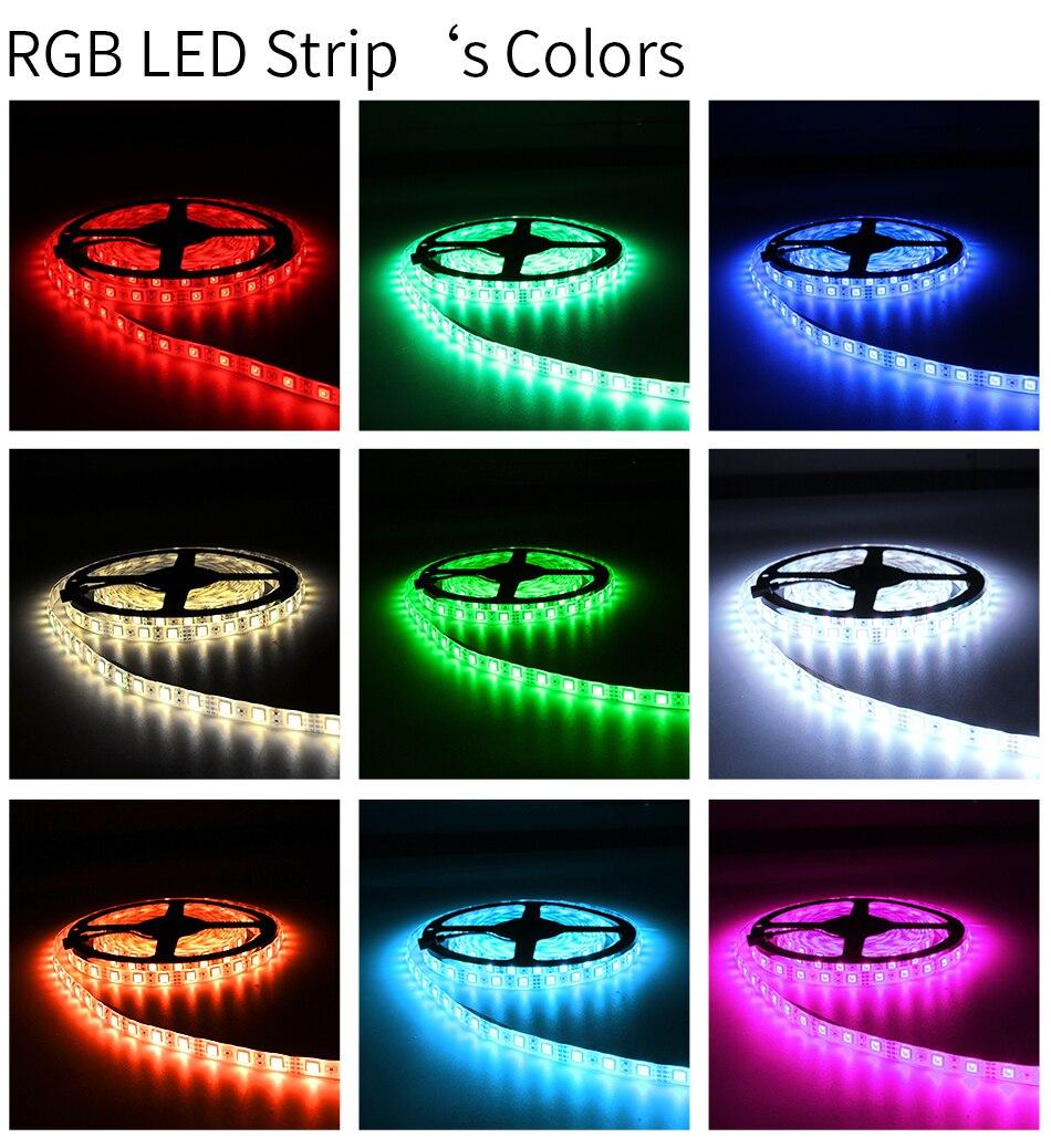USB DC 5V LED Strip 50CM 1M 2M 3M 4M 5M SMD 2835 Cable Power 3Key Flexible Light Lamp Desk Decor Screen TV Lighting Background