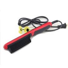 Hair Straightener Comb Ceramic Fast Heated Comb Professional Wet Dry Hair Straightener Electric Hair Brush Iron