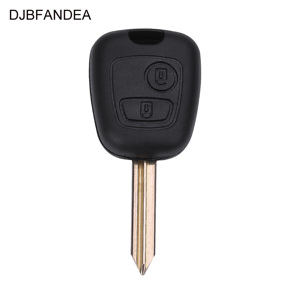 DJBFANDEA 2 Buttons Car Key Shell SX9 Uncut Blade For Citroen C1 C4 For Peugeot 106 107 207 307 407 206 306 406 Remote Car Case
