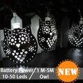 Novelty 50Led Animal Owl Christmas Light Party String Lamps Led Fairy Wedding Garden Pendant Garland Luces Navidad Night Lamp